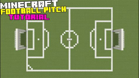 minecraft tutorial how to make a football soccer pitch