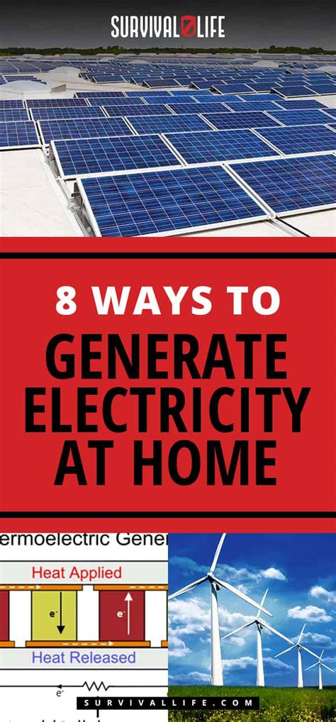 8 ways to generate electricity at home survival