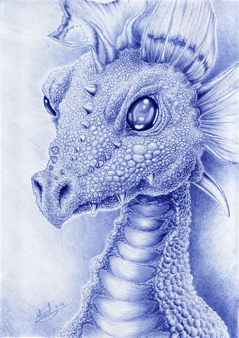 tattoo with bic pen dragon with bic pen by berilia deviantart com on