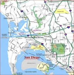 map of san diego california california map
