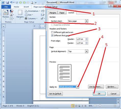 page layout artinya cara penomoran skripsi pada ms word 2007 2010 jyzeet