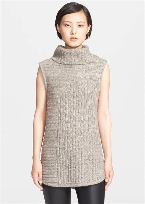 turtleneck knit vest theory theory beylor t ribbed knit turtleneck tunic vest
