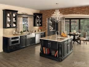 kitchen cabinets merillat merillat classic 174 bayville in maple dusk merillat
