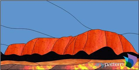 what pattern or shape is uluru red rock 20 x 10 anypattern com