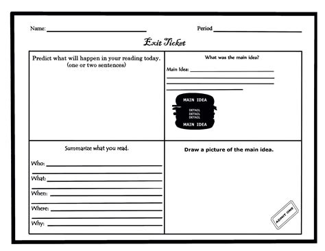 exit ticket template madinbelgrade