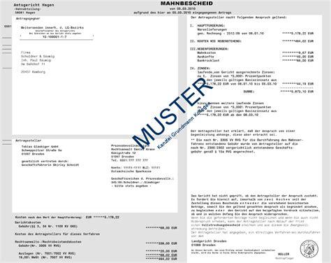 Muster Mahnung Mit Ankündigung Der Vollstreckung Gerichtlicher Mahnbescheid 1 Gericht Mahnung