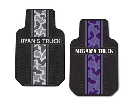 Personalized Floor Mats For Trucks by Camo Personalized 2 Pc Vinyl Truck Floor Mats