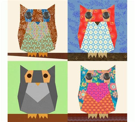 Owl Patchwork Patterns - 1000 ideas about owl quilt pattern on owl