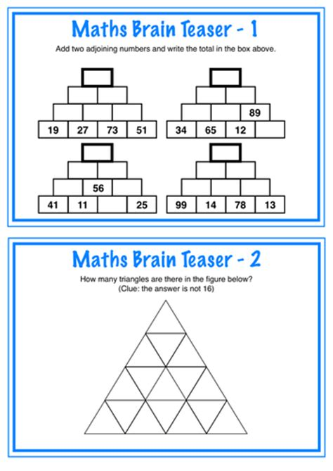printable number puzzles ks2 maths brain teasers by broome72 teaching resources tes