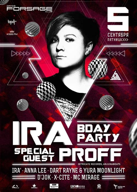 design dj poster dj ira birthday party poster design edm poster design