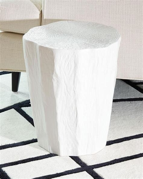 white wood stool side table taka side trunk side table