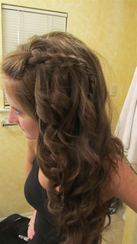 braid ball hairstyles best 25 waterfall braid with curls ideas on pinterest