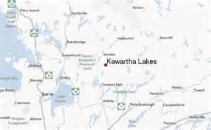 map of lakes kawartha lakes location guide