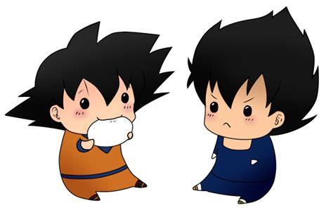 imagenes de goku kawai chibi vegeta and goku by leeniej on deviantart