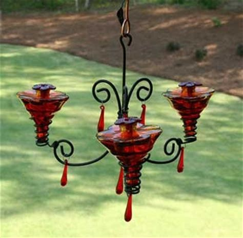Chandelier Hummingbird Feeder Pin By Thevintageglassgarden On Bird Feeders Pinterest