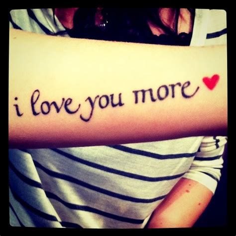 love you more tattoo 17 best images about on
