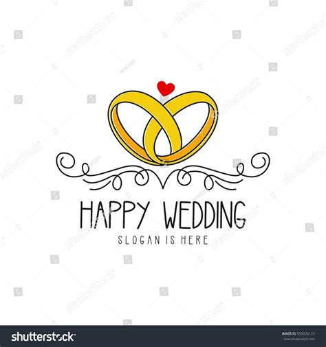 Wedding Logo Design Template Stock Vector 550226173 Shutterstock Wedding Logo Design Template