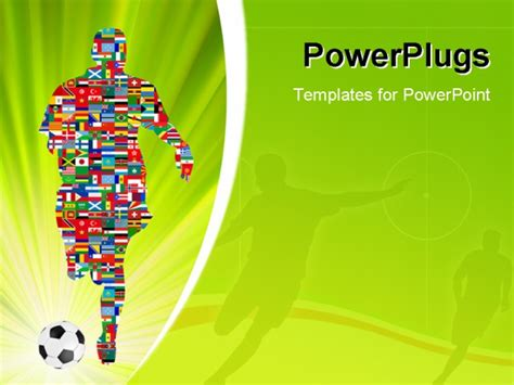 powerpoint templates soccer soccer player in global soccer event eps 8 vector file