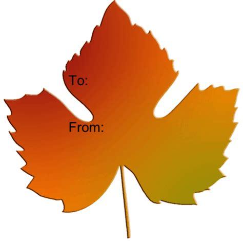 printable fall leaf tags fall leaf printable gift tag