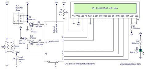 lpg sensor using arduino with cut and alarm lpg