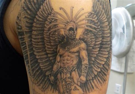 40 Phenomenal Aztec Tattoos Creativefan Pictures Of Aztec Warrior Tattoos