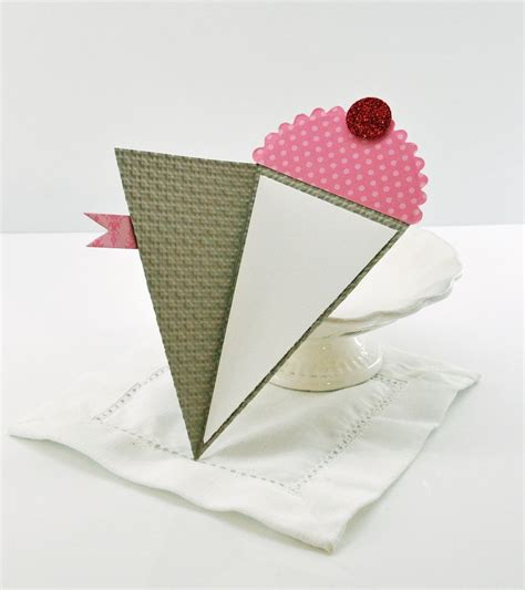 Cone Card Template by Petal Cone Card Chic N Scratch