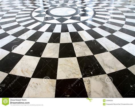pavimento marmo nero reticolo di marmo checkered in bianco e nero pavimento