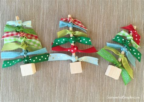 how to tie ribbon around a christmas tree ribbon trees craft somewhat simple