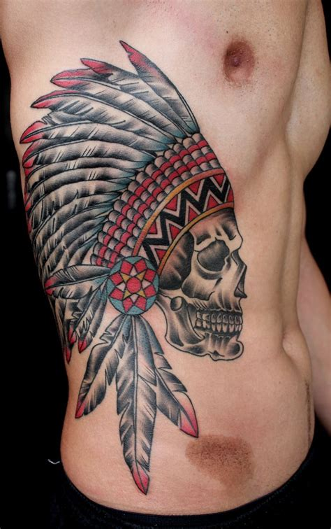 skull tattoo guy 25 trendiga indian skull tattoos id 233 er p 229