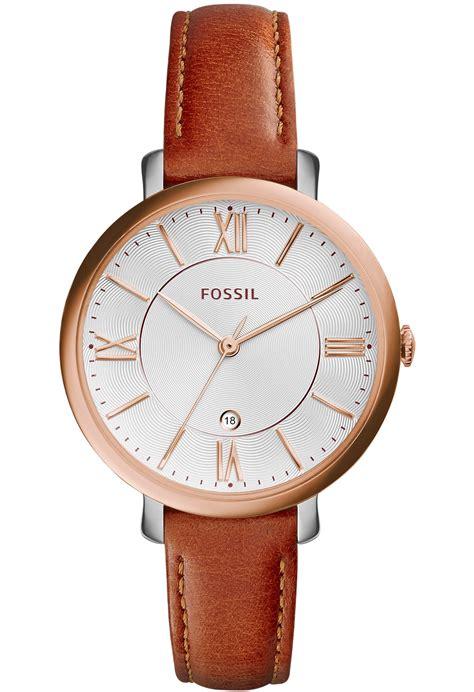 montre jacqueline gold es3842 fossil camel montres