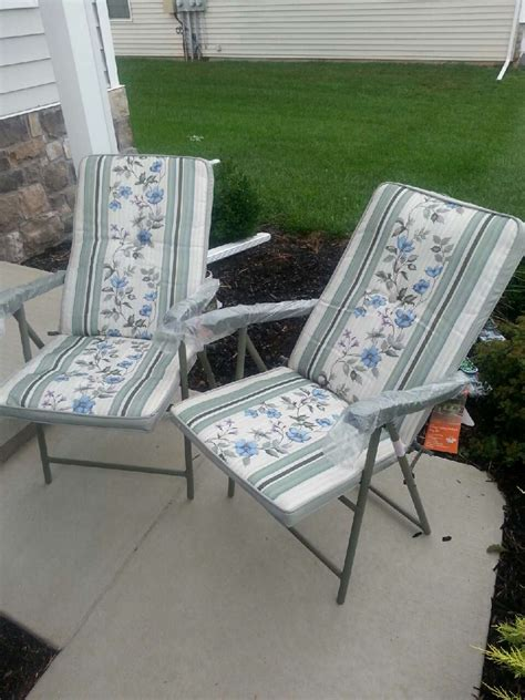 padded folding patio chairs letgo folding padded sling patio chairs in york pa