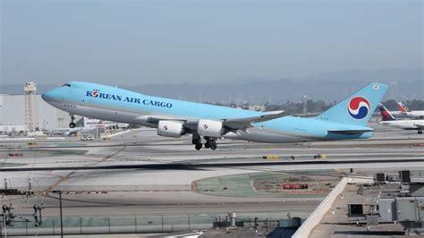 korean air cargo boeing 747 8f hl7624 departing lax