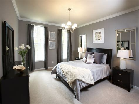 Interior Designs Ideas Awesome Bight Bedroom Interior With Low Budget Feat Black Wood Bed Ideas Also Fancy Wall Mirror