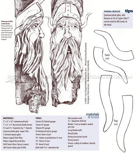 viking bark carving woodarchivist