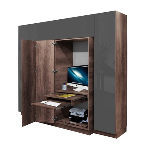 Office Wardrobe Closet by Hawthorne Wardrobe Closet Desk Instant Home Office
