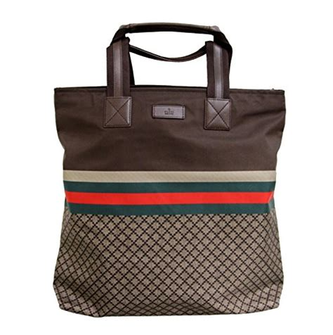 Gucci Travel Tote by Gucci Brown Unisex Diamante Tote Travel Bag 268112