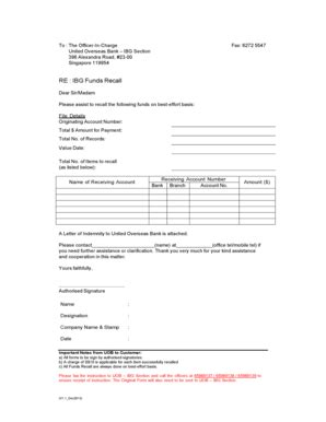 Uob Credit Letter uob fax indemnity form fill printable fillable