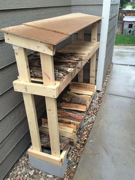 Simple Firewood Rack by Best 25 Firewood Storage Ideas On Wood
