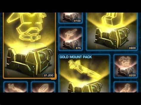 swtor opening gold armor packs
