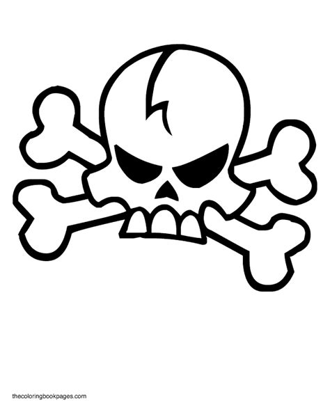 free coloring pages of crossbones