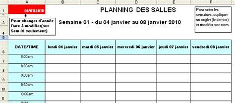 format excel jour de la semaine modele planning excel semaine ccmr