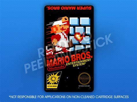 printable nes labels nes super mario bros label retro game cases