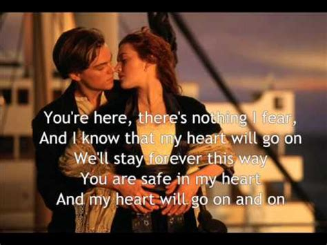 film titanic song lyrics my heart will go on with lyrics titanic theme song youtube