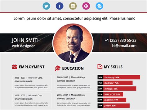 templates for jsp website free download free download adobe muse resume template by musefree com