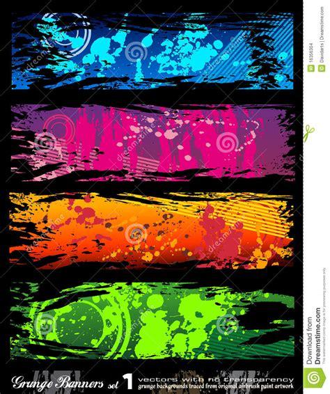 imagenes urbanas abstractas banderas urbanas de grunge del estilo con colores del arco