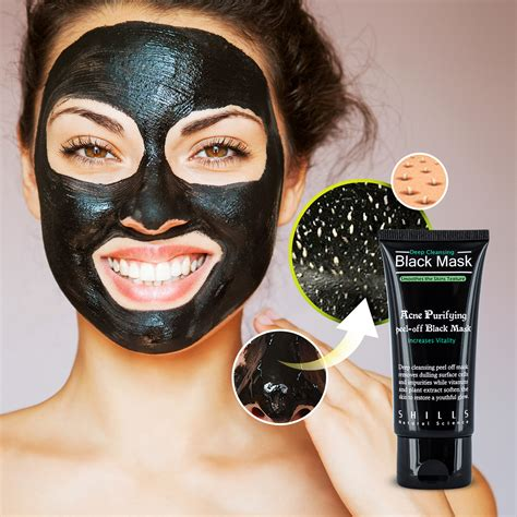 black mask shills shills authentic deep cleansing peel off black facial mask
