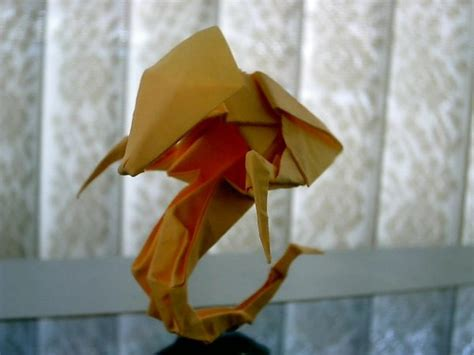 Origami Hydralisk - hydralisk origami by levi ong artwanted