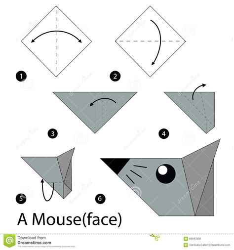How To Make An Origami Mouse - step by step how to make origami a mouse