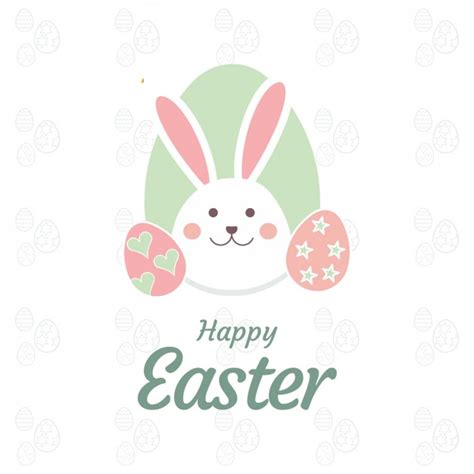 easter card with bunny vector free