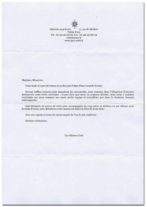 Refus De Stage Lettre Lettre De Refus Jos 233 Corti La Lettre De Refus